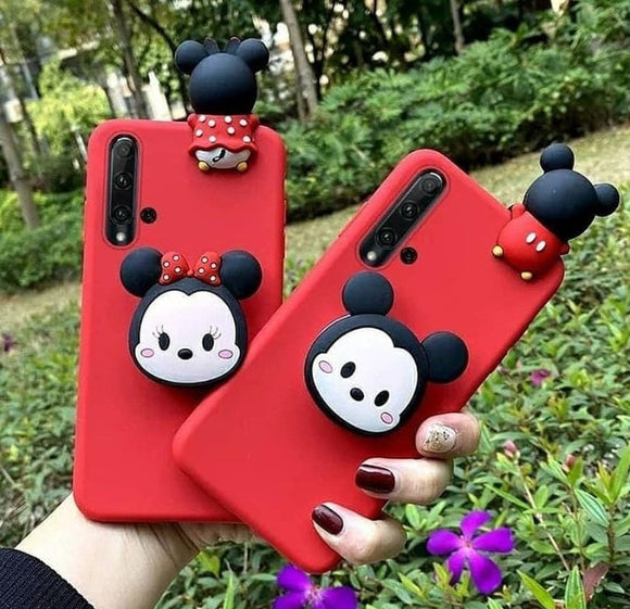 mickey Minnie Case with Toy And Grip Available For 650+ Phone Models