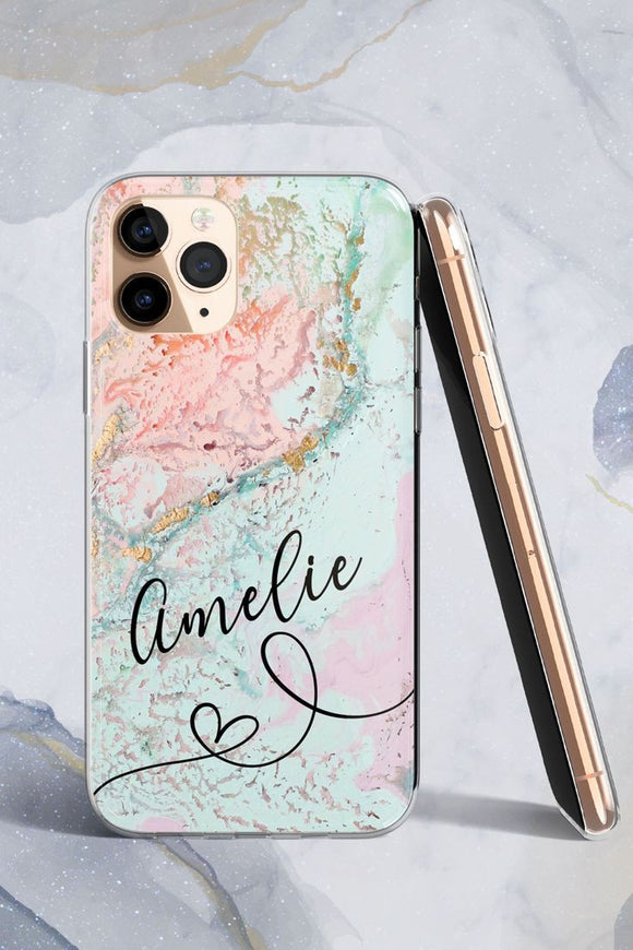 Pastel Name Printed Case Available For 650+ Phone Models