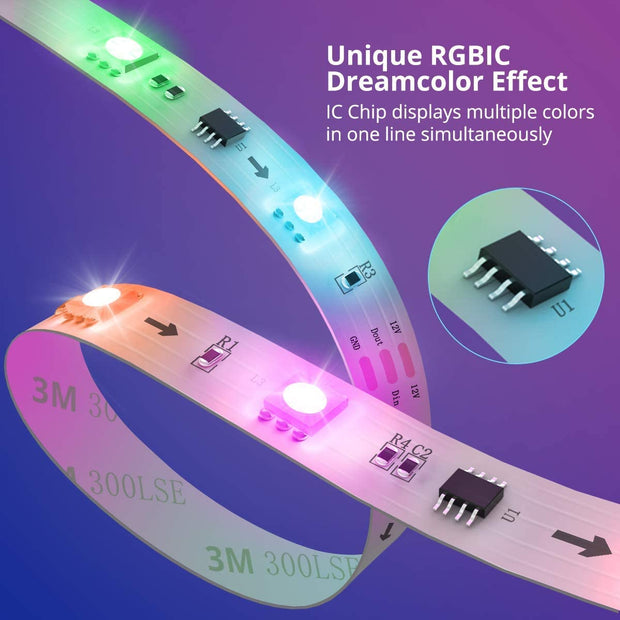 RGBIC Bluetooth LED Strip Lights