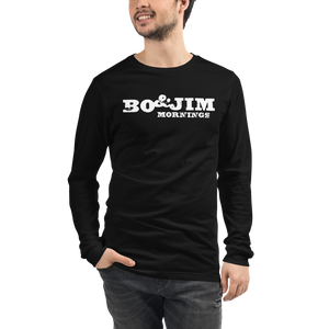 WHITE Bo and Jim Unisex Long Sleeve