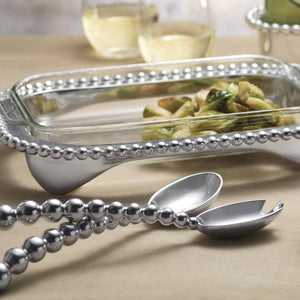 Pearled Oblong Casserole Caddy-Serving Trays and More-|-Mariposa