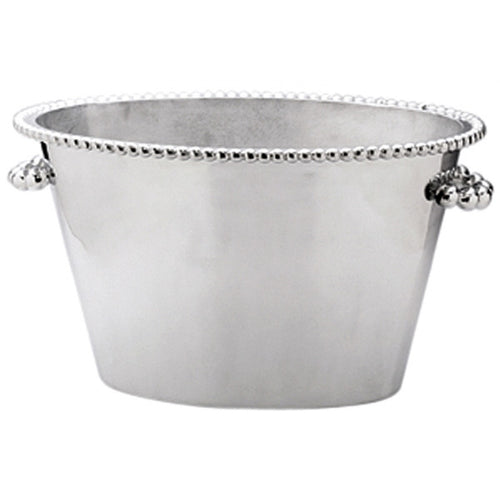 Pearled Double Ice Bucket | Mariposa Barware