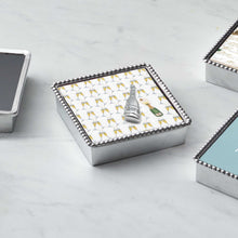 Load image into Gallery viewer, Champagne Beaded Napkin Box-Napkin Boxes and Weights | Mariposa