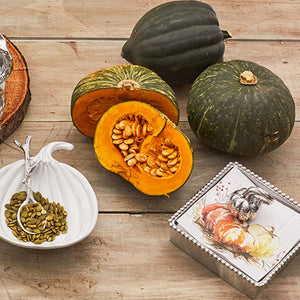 Heirloom Pumpkin Beaded Napkin Box-Napkin Boxes and Weights-|-Mariposa
