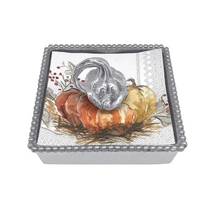 Mariposa | Heirloom Pumpkin Beaded Napkin Box