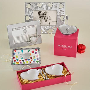 Heart Beaded Napkin Box-Napkin Boxes and Weights-|-Mariposa