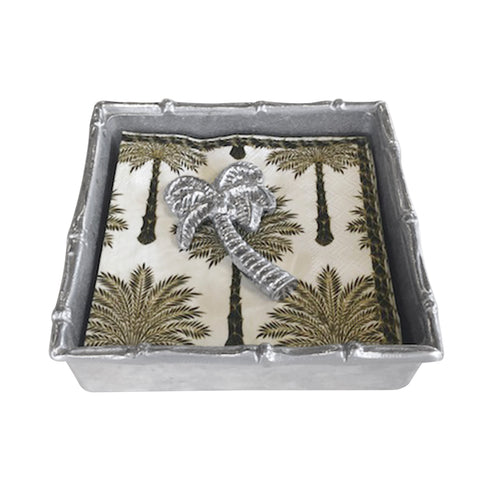 Palm Tree Bamboo Napkin Box | Mariposa Napkin Boxes and Weights