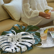 Load image into Gallery viewer, Swiss Cheese Leaf Centerpiece-Serving Trays and More-|-Mariposa