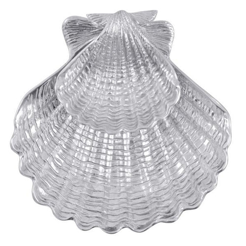 Scallop Shell 2-Piece Chip & Dip Set | Mariposa Serving Trays and More