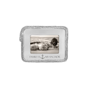 Family is my anchor Rope 4x6 Statement Frame | Mariposa