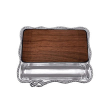 Load image into Gallery viewer, Rope Cheese Board, Dark Wood | Mariposa Serving Trays and More