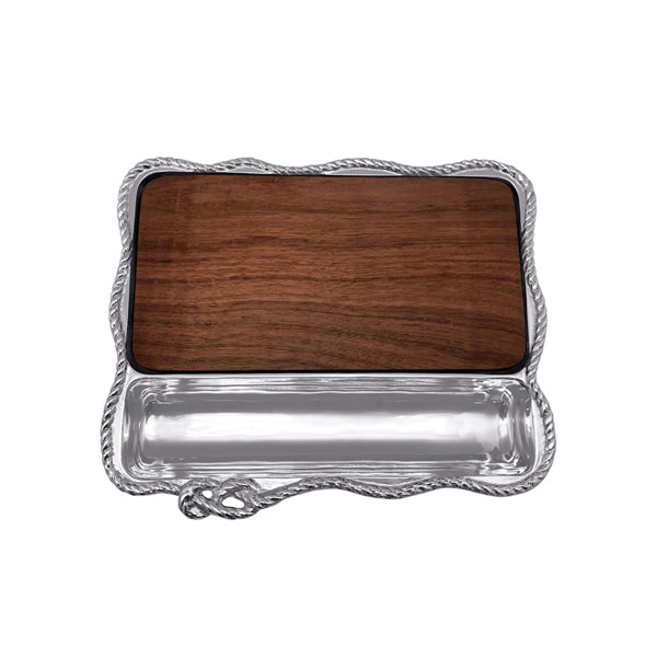 Rope Cheese Board, Dark Wood | Mariposa Serving Trays and More
