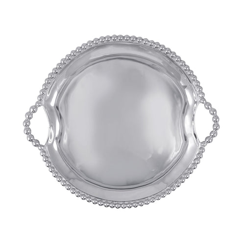 Pearled Round Handle Tray-Serving Trays and More | Mariposa