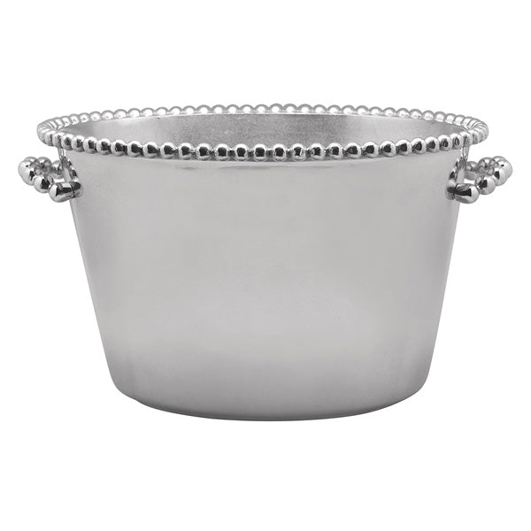 Pearled Medium Ice Bucket | Mariposa Barware