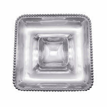 Load image into Gallery viewer, Pearled Square Chip & Dip | Mariposa Serving Trays and More