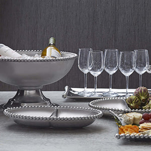 Oversized Pearled Compote-Serving Trays and More-|-Mariposa