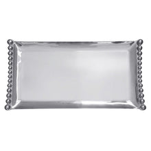 Load image into Gallery viewer, Pearled Flanked Large Tray | Mariposa Serving Trays and More