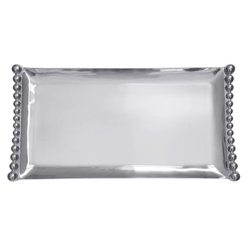 Pearled Flanked Large Tray | Mariposa Serving Trays and More