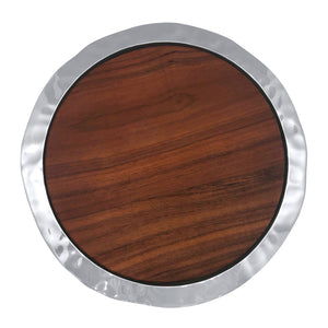 Shimmer Round Cheese Board, Dark Wood-Serving Trays and More | Mariposa