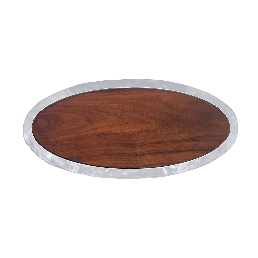Shimmer Oval Cheese Board, Dark Wood-Serving Trays and More | Mariposa