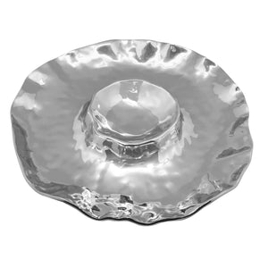 Shimmer Round Chip and Dip-Serving Trays and More-|-Mariposa
