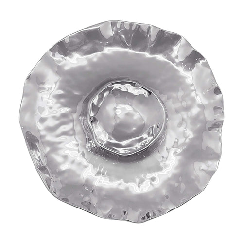 Shimmer Round Chip and Dip | Mariposa Serving Trays and More