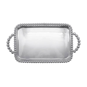Pearled Medium Service Tray | Mariposa Serving Trays and More