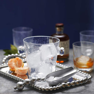 Pearled Medium Service Tray-Serving Trays and More-|-Mariposa