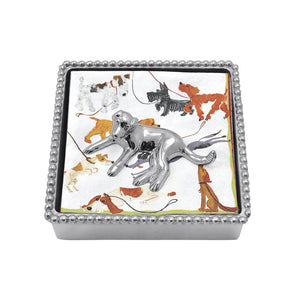 Labrador Beaded Napkin Box-Napkin Boxes and Weights | Mariposa