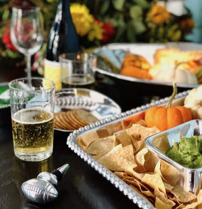 Pearled Square Chip & Dip-Serving Trays and More-|-Mariposa