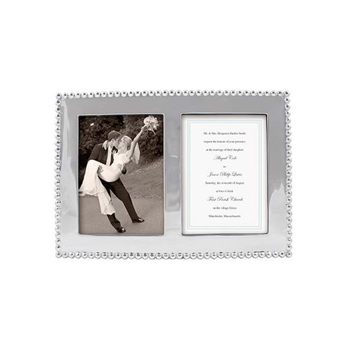 Pearled 5x7 Double Frame | Mariposa Photo Frames