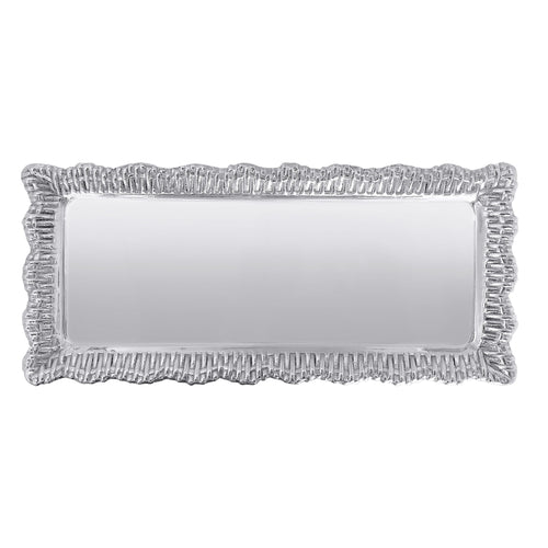 Wicker Bordered Rectangular Tray | Mariposa