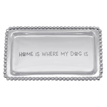 Load image into Gallery viewer, Mariposa | HOME IS WHERE MY DOG IS Beaded Statement Tray