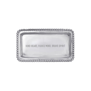 KIND HEART... Beaded Statement Tray-Statement Tray-|-Mariposa