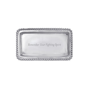REMEMBER YOUR FIGHT... Beaded Statement Tray-Statement Tray-|-Mariposa