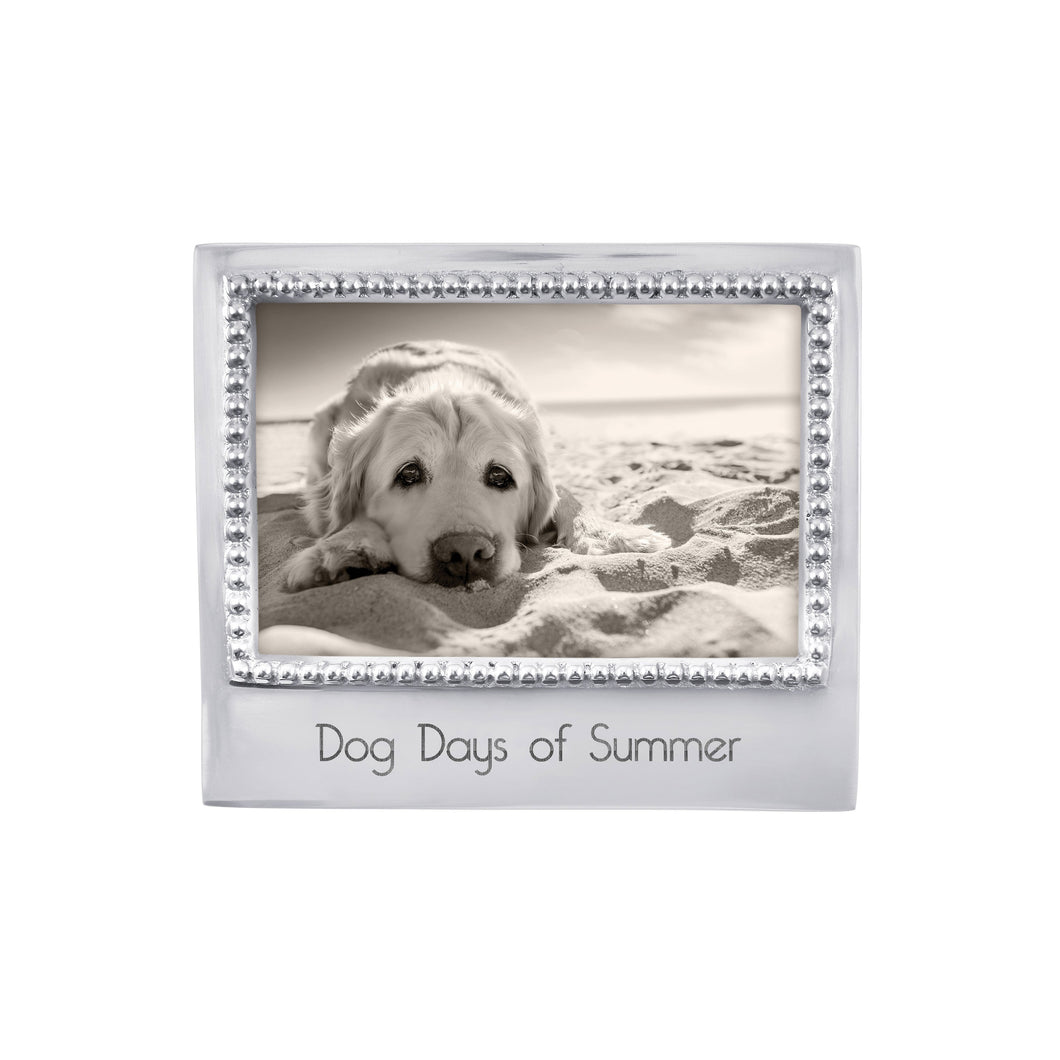 Dog Days of Summer Beaded 4x6 Statement Frame-Plain Photo Frames | Mariposa