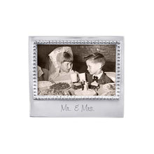 Load image into Gallery viewer, Mariposa | MR. & MRS. Beaded 4x6 Frame