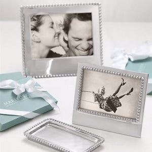 Beaded 4x6 Statement Frame-Photo Frames-|-Mariposa