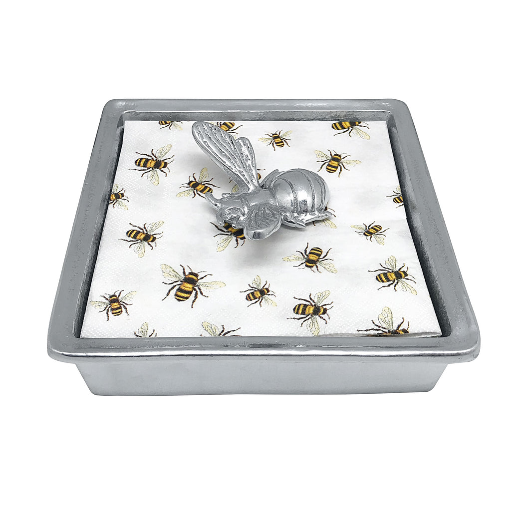 Honeybee Napkin Box-Napkin Boxes and Weights | Mariposa
