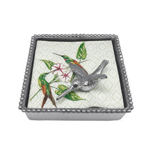 Load image into Gallery viewer, Hummingbird Beaded Napkin Box | Mariposa Napkin Boxes and Weights