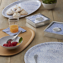 Load image into Gallery viewer, Little Dot Blue Oval Tray-Serving Trays and More-|-Mariposa