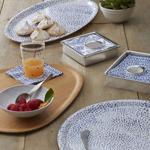 Little Dot Blue Oval Tray-Serving Trays and More-|-Mariposa