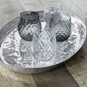 Shimmer Large Oval Tray-Trays | Mariposa