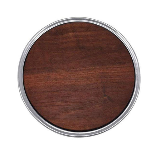 Signature Round Cheese Board, Dark Wood | Mariposa Serving Trays and More