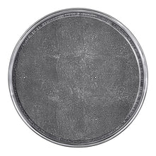 Load image into Gallery viewer, Signature Round Metal Tray with Shagreen Insert | Mariposa