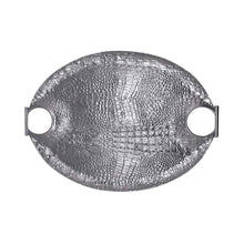 Load image into Gallery viewer, Croc Oval Handled Tray | Mariposa