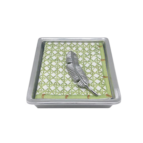 Banana Leaf Signature Napkin Box | Mariposa Napkin Boxes and Weights