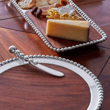 Load image into Gallery viewer, Pearled Round Cheese Board, Dark Wood-Serving Trays and More-|-Mariposa