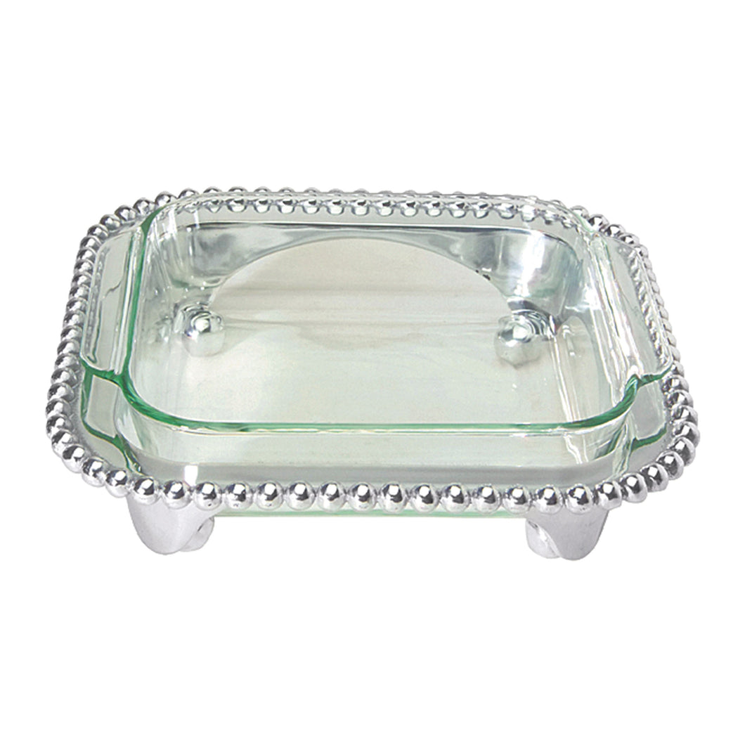 Pearled Square Casserole Caddy-Serving Trays and More | Mariposa