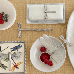 Dragonfly Beaded Napkin Box-Napkin Boxes and Weights-|-Mariposa